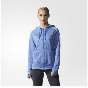 Adidas Team Issue Climawarm Zip Hoodie- Bold Blue